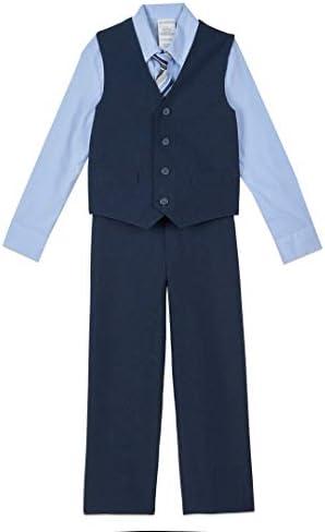 Van Heusen Boys Big 4 Piece Formal Suit Vest Set Bank Blue 10 product image