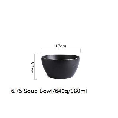 Fiesta 1pièce Kinglang en céramique en porcelaine Style nordique Big bols Vaisselle Assiettes Cuillère à soupe à plaque carré Vaisselle : Bol de 17,1 cm de profondeur