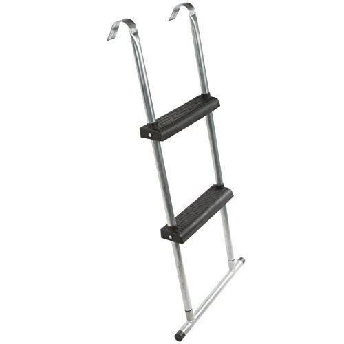 Ultrasport Trampolin-Leiter mit Boden-Querstrebe für alle gängigen Trampoline, Silber/Schwarz, 75 cm