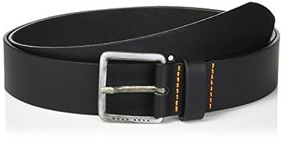Boss Orange Men's Jeeko Italian Leather Belt, black, US 36