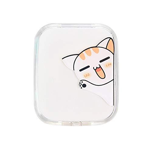 Demarkt Kontaktlinsenkasten, niedlicher Karikaturmusterschönheits-Aufbewahrungsbehälter Myopie Brillenetui Brille Begleiter Box Pflege Box Reiseset size 7cm*6cm (Winkende Katze)