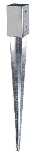 GAH-Alberts 208288 Einschlag-Bodenhülse für Vierkantholzpfosten - feuerverzinkt, 61 x 61 mm / 750 mm