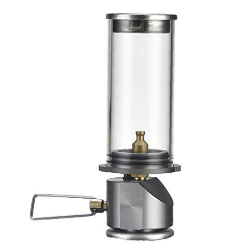 Mini Outdoor-Camping-Laterne bewegliches Aluminium Gas-Licht-Zelt-Lampen-Fackel hängende Glaslampe Kamin Butan für Reisen