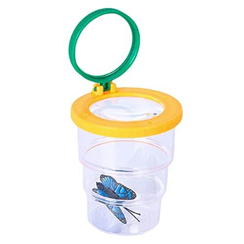 Shichangda Visor de Insectos - Critter Caja de Insectos con Aumento Visor de Insectos Critter Explore Observador de Insectos Educativo para Lectura Reparación de observación