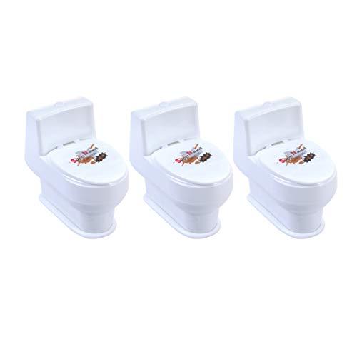 Toyvian 3Pcs Lustige Mini Spritzen Toilette Spielzeug für Kinder Und Erwachsene Party Trick Spielzeug