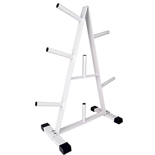 ScSPORTS Hantelscheibenständer, Gewichtsständer, mit 30 mm Scheibenaufnahme, bis 250 kg, weiß