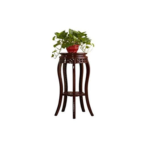WZNE GLVV Blumenständer Antik Kunststoff Blumenständer Imitation Blumenregal Holz Multilayer Wohnzimmer Balkon Stand KL-17 (Size : Medium)
