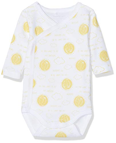 NAME IT Nbnurbanha LS Wrap Body Polaina, Multicolor (Bright White Bright White), 62 para Bebés