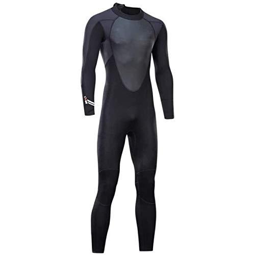 ZHANG Traje de neopreno para hombre, 3 mm, neopreno, para natación, surf, triatlón, traje de baño, traje de baño completo, tamaño mediano
