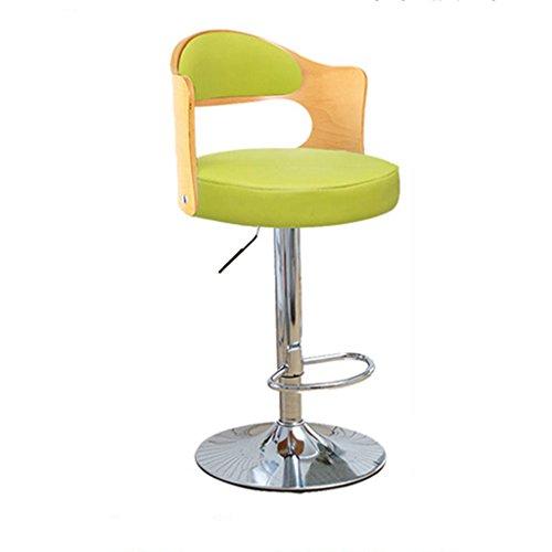 Ali@ Style européen Chaises de bar élégantes Chaise de bar Tabourets de bar Chaise de levage rotative Chaise de dossier en bois massif Chaise de bar Tabouret haut de la réception (Couleur : D)