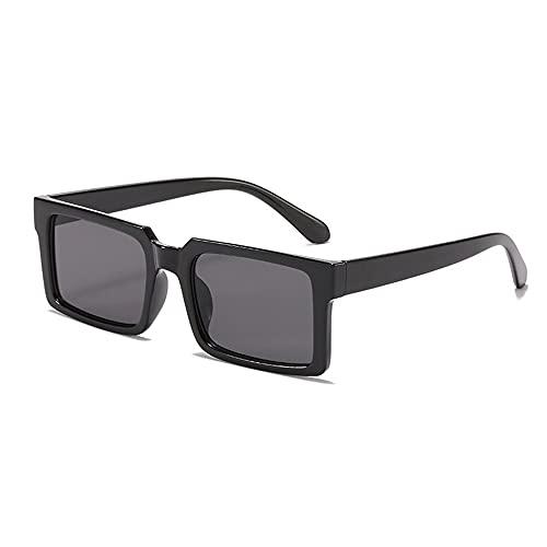 XWKKY Gafas De Sol Para Mujer Gafas De Sol Rectangulares Retro Gafas De Moda Para Hombre Y Mujer Gafas Vintage