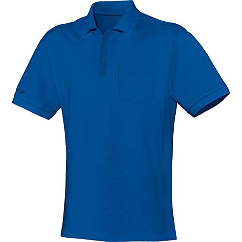 JAKO Polo Team avec Poche de Poitrine pour Homme, Bleu Roi, 4XL