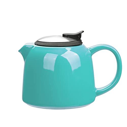 Ceramiczny czajnik 800ml czajnik domowy z odpornym na ciepło Występa ze stali nierdzewnej idealna do herbaty i kawy 1 0x12.4cm. (Color : Blue)