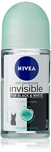 NIVEA Black & White Invisible Roll Anti Perspirant Deodorant 50ml