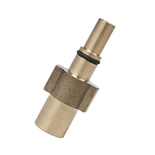 M&M Smartek - Adattatore a baionetta per Black & Decker/Bosch Parkside/Nilfisk/AQT in ottone con filettatura interna da 1/4' per pistole e pistole
