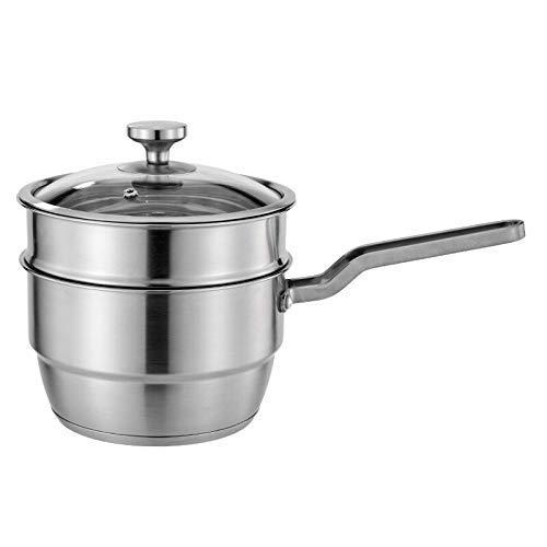 8bayfa, roestvrijstalen kookpan met stoom, 304 melk, anti-aanbakpan, brood, babyvoeding, kinderen, mini-soep, keukengerei
