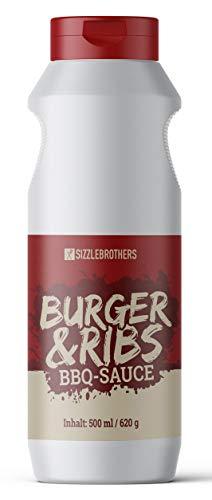 Sizzle Brothers Original BBQ Sauce & Burger Sauce satte 500ml I Barbecue Burgersauce und Spareribs Glaze I Super leckerere Soße für Burger & Grillfleisch wie Steak, Hähnchen, Pulled Pork & Co