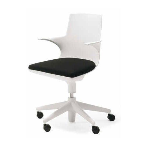 Kartell 481903 Stuhl Spoon Chair weiß-schwarz