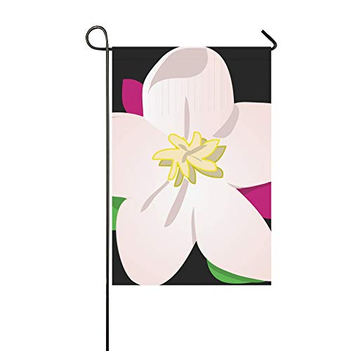yyone Home Decorative Outdoor Double Sided Apple Flower Blossom Bloom Garden Flag,House Yard Flag,Garden Yard Decorations,Seasonal Welcome Outdoor Flag 12 X 18 Inch Spring Summer Gift