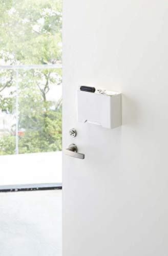 山崎実業マグネットマスクホルダーホワイト約W19×D6.5×H13.5cmタワーマスク収納マグネット4358