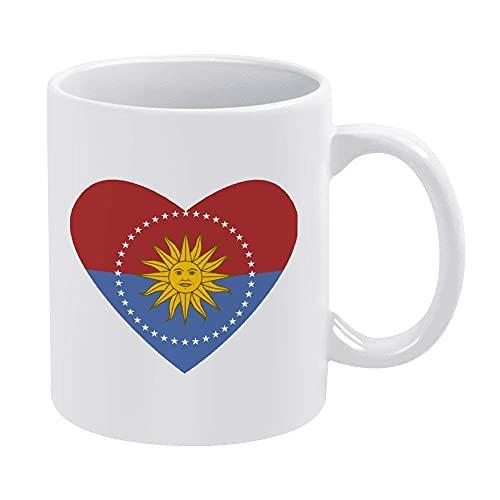 Eastlif Flagge von San Jos und uml; und brvbar; Abteilung Herz-Becher Kaffeetasse bietet Platz