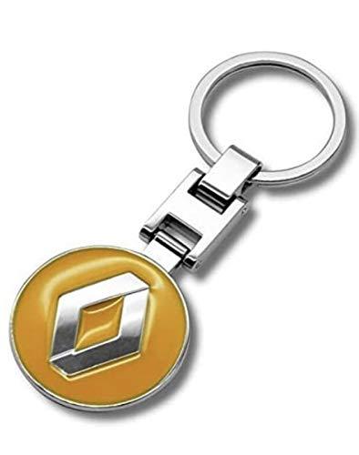 Bogoo 3D-Schlüsselanhänger aus Metall, Chrom, für Renault Clio, Megane, Kadjar, Zoe, Scenic,...