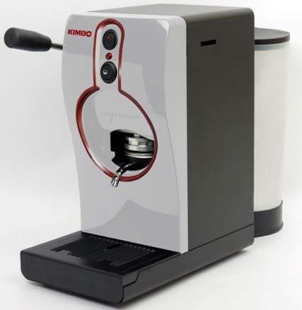 Kimbo - Macchina per caffè Espresso MOD. Tube con 100 Cialde Napoli in Omaggio (Bianca)