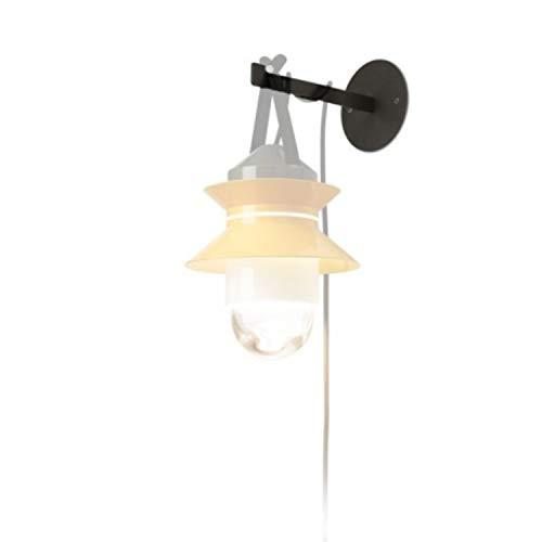 Soporte de Pared para lámpara Modelo Santorini, Color Negro, 20 x 20 x 12 centímetros (Referencia: A654-005)