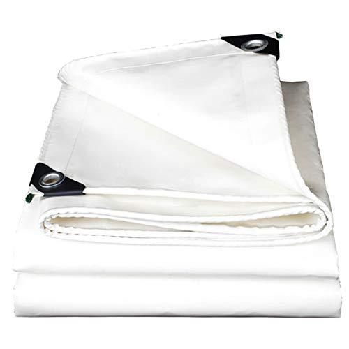 JLZS-Tarpaulin Épais Blanc Couteau Grattoir en Plein Air Protection Solaire Tissu De Pluie Imperméable À l'eau De Bâche Bâche D'isolement Toile d'Oxford (Couleur : Blanc, Taille : 3 * 4m)