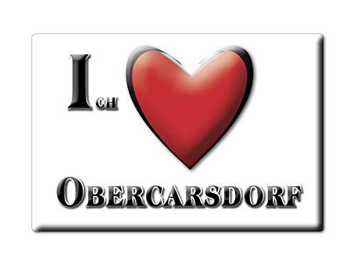Enjoymagnets OBERCARSDORF (SN) Souvenir IMANES DE Nevera Alemania Sachsen IMAN Fridge Magnet Corazon I Love