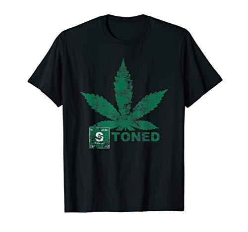 Stoned Vintage - Stone Washed - Blaze it 420 Hanf Blatt T-Shirt