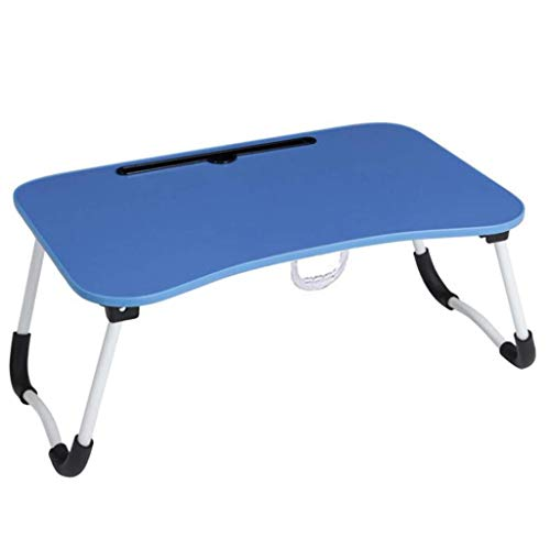 MiaoMiao Laptop stands Desk for laptop Desk Bed table Dormitory Game table Folding table Lazy desk Reading table Study Children Game Picnic Coffee table Breakfast tray (Optional 5 colors) (color: D)