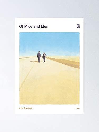 De Souris et d'hommes John Steinbeck - Literary Bookish Book Livre Lover Poster