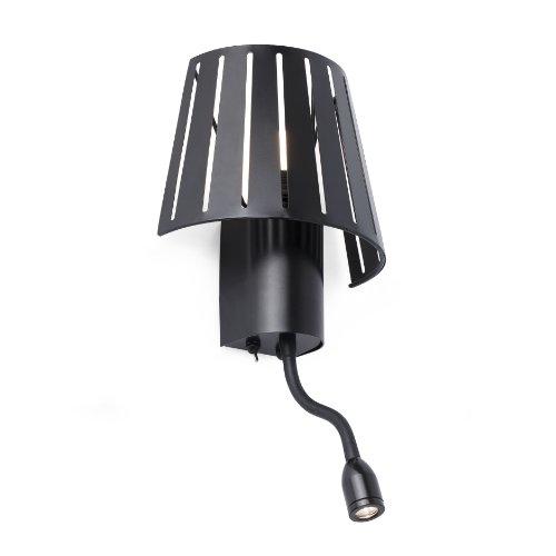 Mix-Lampe Projecteur 29963 applique avec Liseuse led Noir