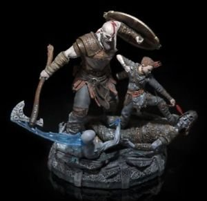 Figura Kratos con Atreus de God of War