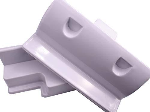 edi-tronic Halterung für Solarpanel Verbinder weiß Solarmodul Befestigung Haltespoiler Spoiler Wohnmobil Dachbefestigung