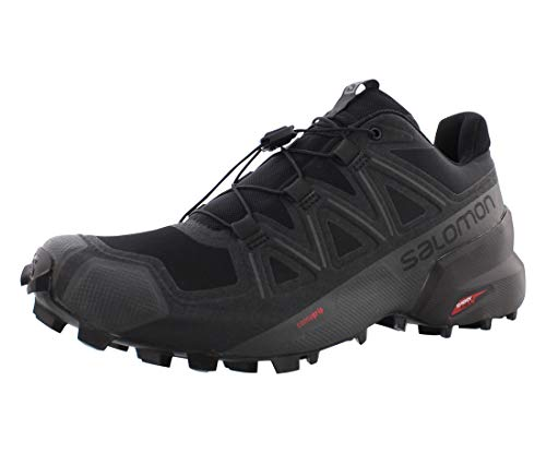 Salomon Women's Speedcross 5 W Trail Running, Black/Black/Phantom, 8