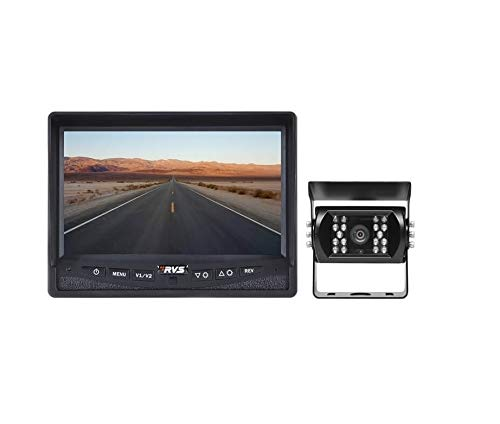 """7"""" Backup Camera System for RV/Truck/Bus - Waterproof Camera with Night Vision - RVS-770613-NM-01 by Rear View Safety."""