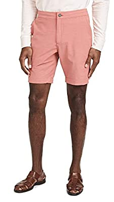 Faherty Men's All Day Shorts, Venice Red, 31 from Faherty-Men's