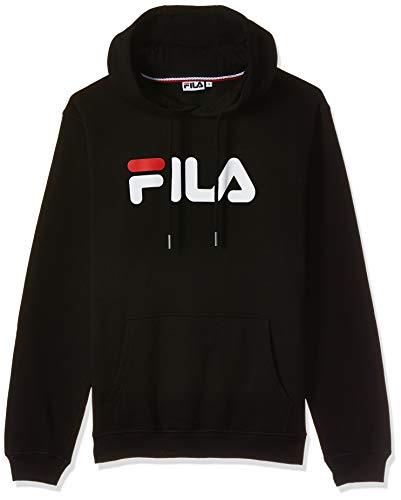 FILA Unisex Classic Pure Hoody Kapuzenpullover, Black, S