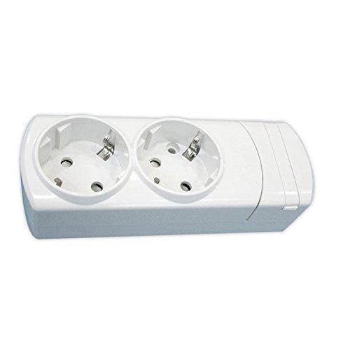 ElectroDH 36096SC DH stekkerdoos met 2 aansluitingen, S/kabel + bescherming