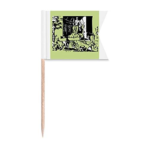 Statue Olympia Gott Art Deco Geschenk Mode Zahnstocher Flaggen Kennzeichnung für Party Kuchen Lebensmittel Käseplatte