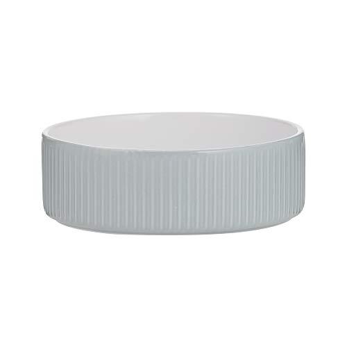 Mason Cash Linear Grey Pet Bowl 13x4cm, One Size