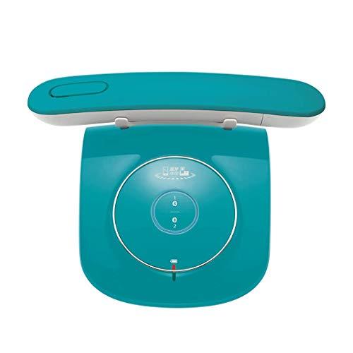 Teléfono LCSHAN Retro Vintage inalámbrico Fijo Conveniente de la Oficina inalámbrica Creativa (Color : Blue)