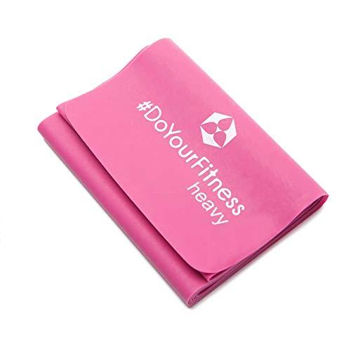 Cinta elástica para fitness »Amul« / En 5 resistencias (desde 120cm x 15cm x 0,55mm) / Cinta elástica para fitness, deporte, gimnasia y rehabilitación para mujeres / violeta, 0,55mm