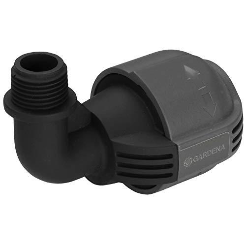 Gardena 2780-20 Raccordo a L con Filetto Esterno per Sistema Pop-Up, Raccordo per Collegamento di Irrigatore Pop-Up all'Estremità del Tubo, 25 mm X 1/2'