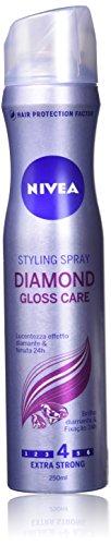 Nivea Styling SprayDiamond Gloss, Lacca per Capelli, 250 ml