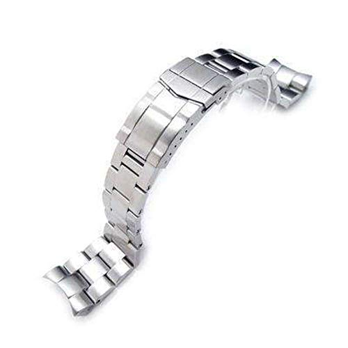 Strapcode 22mm Super 3D Oyster Watch Band for Seiko Diver SKX007/009/011, Solid Submariner Clasp