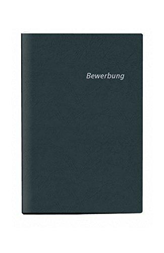 Veloflex 4941080 Bewerbungsmappe 2-teilig, DIN A4, Vorderdeckel mit Druck Bewerbung, Leder-Struktur, schwarz
