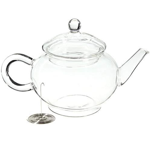 ZJY 250 ml Borosilicato Durable Tetera de Cristal Taza Resistente al Calor para el té floreciente Café de Hierbas con infusor